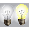 On and off lights vector image vector image