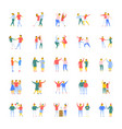people flat icons set vector image vector image