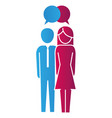 people pictogram cartoon vector image vector image