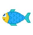 pixel fish vector image