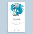 planning business project poster businesspeople vector image vector image