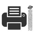 print icon with work bonus vector image vector image