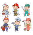 Professions kids set vector image vector image
