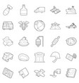 provisions icons set outline style vector image vector image