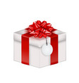 realistic 3d gift box with bow and ribbon eps10 vector image