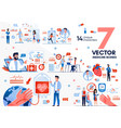 recovery after surgical operation flat vector image