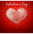 red background white heart vector image vector image