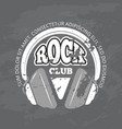 retro rock music club shop logo vector image vector image