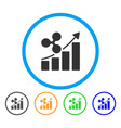ripple growing trend rounded icon vector image vector image