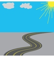 Road with yellow markings in the long term vector image vector image