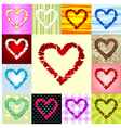 rough heart pattern vector image vector image