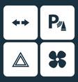 set car dashboard icons vector image