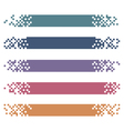 Set of colored modern pixel banners for headers vector image
