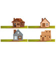 set of isolated house vector image