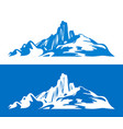 silhouettes scandinavian mountains isolated on vector image