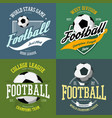 soccer ball and football goals as sport icon vector image
