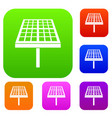 solar energy panel set collection vector image