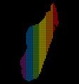 spectrum dot lgbt madagascar island map vector image vector image