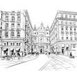 st peters church vienna austria hand drawn vector image vector image