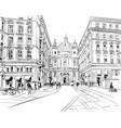 st peters church vienna austria hand drawn vector image