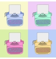 stylish typewriter vector image vector image