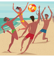 Summer activity at beach vector image vector image