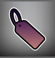 tag sign violet gradient vector image vector image
