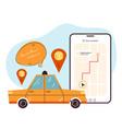 taxi mobile app order city urban online service vector image vector image