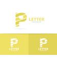unique letter p logo design template vector image vector image
