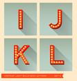 Vintage light bulb sign letters i j k l vector image vector image