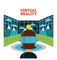 virtual reality flat vector image