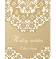 Wedding invitation decorated with white lace vector image