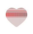 white red heart from knitted pattern vector image vector image