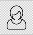 woman sign icon in transparent style female vector image vector image