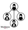 Workforce design vector image