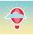 balloon air travel icon vector image