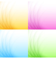 Set of Abstract Colorful Light Backgrounds vector image