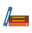 stack book literature encyclopedia learn office vector image