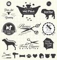 Pet Grooming Labels vector image
