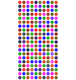 set of colorful mobile icons vector image