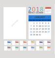 2018 calendar planner design vector image vector image