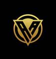 aa logo monogram with triangle shape and circle