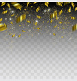 Abstract background with gold confetti