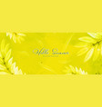 abstract bright yellow texture and leaves vector image vector image