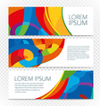 Abstract colorful banners set on transparent vector image vector image