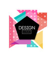 abstract geometric logo design colorful vector image
