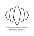 abstract soundwave linear icon thin line sound vector image vector image