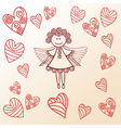 Angel hearts vector image vector image