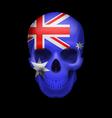 Australian flag skull vector image vector image