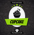 Bakery card template vector image vector image